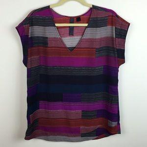 ModCloth - Petticoat Alley - Striped V-Neck Blouse